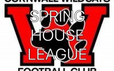 SPRING HOUSE LEAGUE CANCELLED